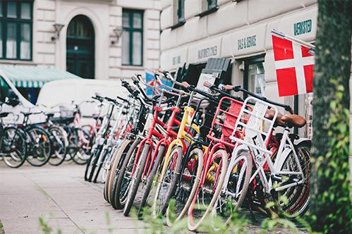 デンマークの自転車